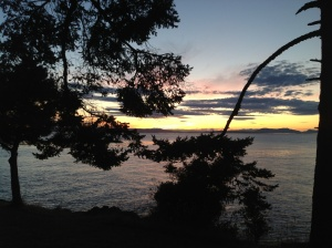 Sunset on the bluff on San Juan Island