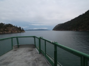 View from the front of the ferry