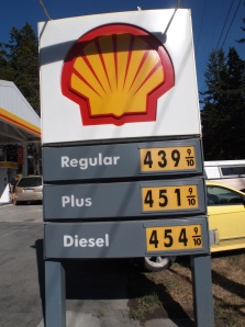 Gas prices on Orcas Island