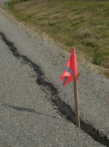 Yukon road damage notification