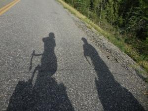 A rare sunshine moment in the Yukon