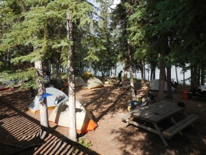 Campground by the Yukon River
