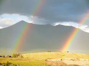 Double rainbow while still in Montana
