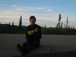 Eating breakfast literally on the TOTW Highway
