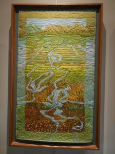 Glacier Run Off quilted wall hanging by artist, Ree Nancarrow