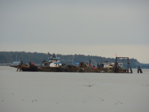Double K barge in Cook Inlet